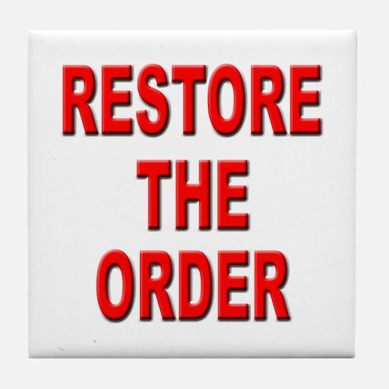 Nebraska Restore the Order Tile Coaster