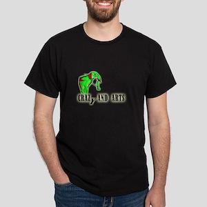 green red elephant_Dark T-Shirt