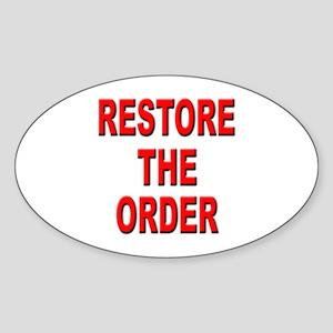 Nebraska Restore the Order Oval Sticker