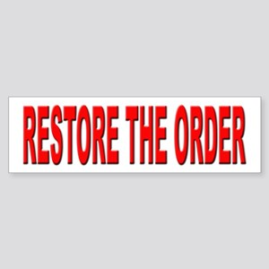 Nebraska Restore the Order Bumper Sticker