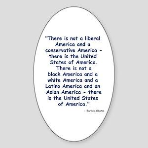 Obama America Sticker (Oval)