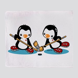 Ice Hockey (T) Throw Blanket