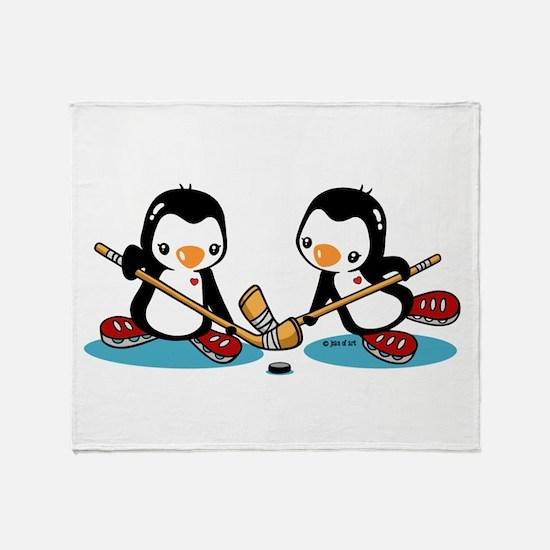 Ice Hockey (T) Throw Blanket