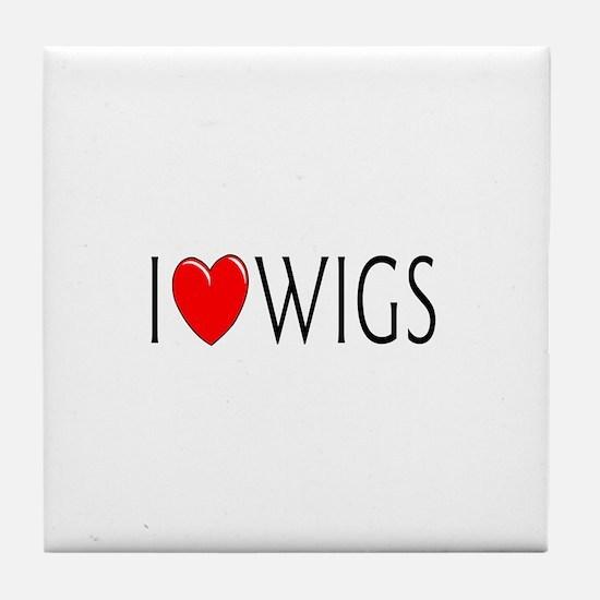 I Love Wigs Tile Coaster