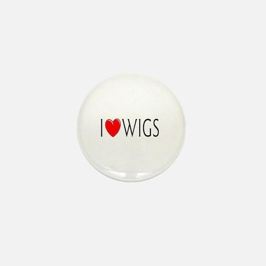 I Love Wigs Mini Button