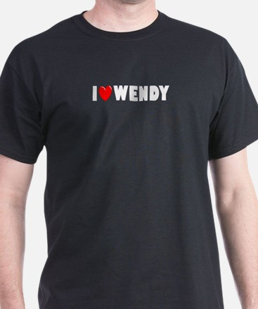 I Love Wendy Black T-Shirt