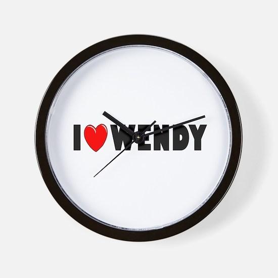 I Love Wendy Wall Clock