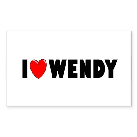 I Love Wendy Rectangle Sticker