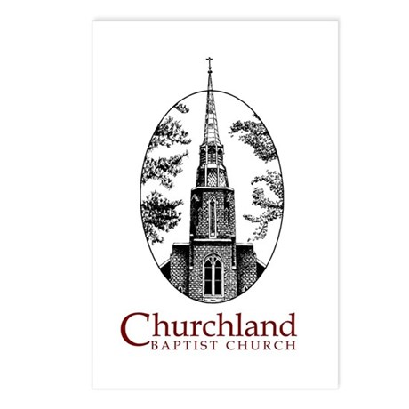 Churchland Baptist Church. Postcards (Package of 8 by findjoy