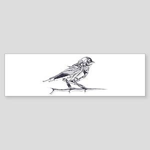 Industrial Finch (silver) Sticker (Bumper)
