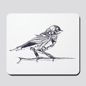 Industrial Finch (silver) Mousepad