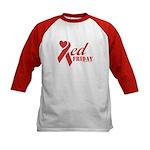 Red Friday Kids Baseball Jersey