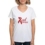 Red Friday Women's V-Neck T-Shirt