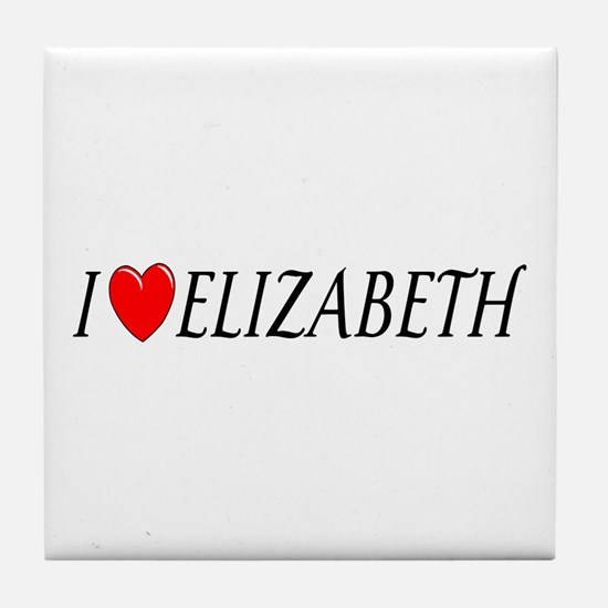 I Love Elizabeth Tile Coaster