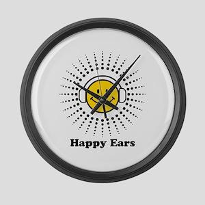 Happy Ears Large Wall Clock