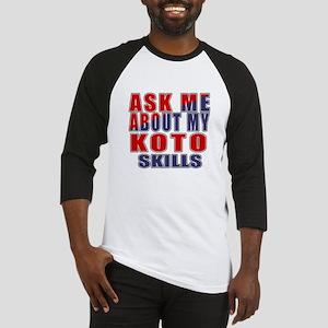 Ask About My Koto Skills Baseball Jersey