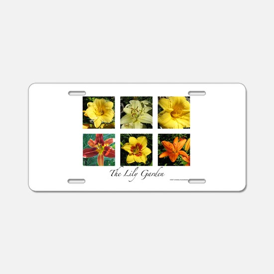 The Lily Garden Aluminum License Plate