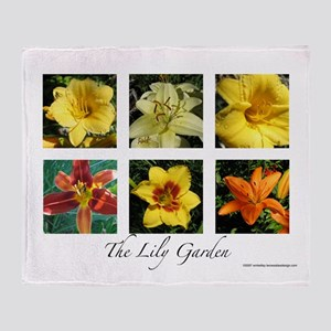 The Lily Garden Throw Blanket