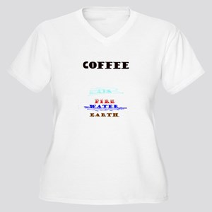 Coffee Science Women's Plus Size V-Neck T-Shirt
