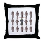 Not a Corporate Clone (close- Throw Pillow