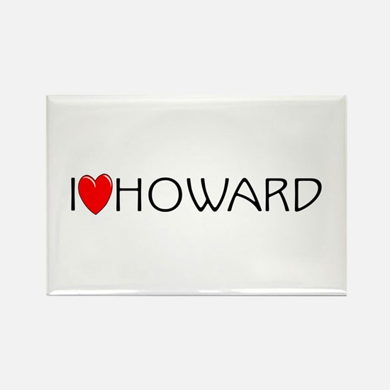 I Love Howard Rectangle Magnet