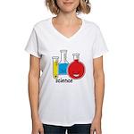 Test Tubes Women's V-Neck T-Shirt