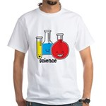 Test Tubes White T-Shirt