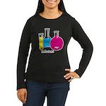 Test Tubes Women's Long Sleeve Dark T-Shirt