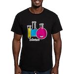 Test Tubes Men's Fitted T-Shirt (dark)