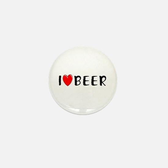 I Love Beer Mini Button
