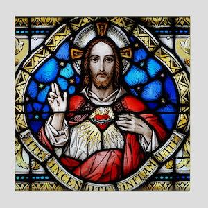 Sacred Heart Tile Coaster