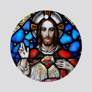 Sacred Heart Ornament (Round)