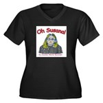 Oh Susana! Women's Plus Size V-Neck Dark T-Shirt