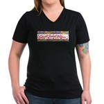 Cubicle Sweet Cubicle sign Women's V-Neck Dark T-S