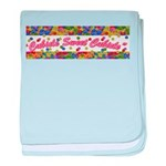 Cubicle Sweet Cubicle sign baby blanket