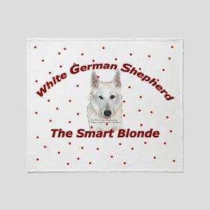The Smart Blonde Throw Blanket
