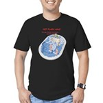Hot Flash Tub of Ice Men's Fitted T-Shirt (dark)