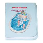 Hot Flash Tub of Ice baby blanket