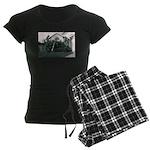 Palm Tree Window Women's Dark Pajamas
