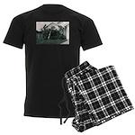 Palm Tree Window Men's Dark Pajamas