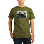Palm Tree Window Organic Men's T-Shirt (dark)