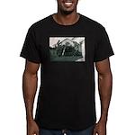 Palm Tree Window Men's Fitted T-Shirt (dark)