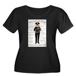 Grammar Police Women's Plus Size Scoop Neck Dark T