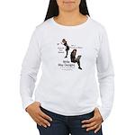 Clean Up Your Grammar Women's Long Sleeve T-Shirt