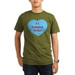 #1 Technical Writer Organic Men's T-Shirt (dark)