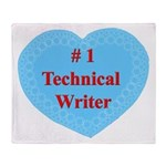 #1 Technical Writer Throw Blanket