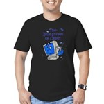 The Blue Screen of Death Men's Fitted T-Shirt (dar