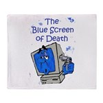 The Blue Screen of Death Throw Blanket