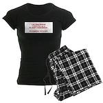 Living Up to Expectations Women's Dark Pajamas
