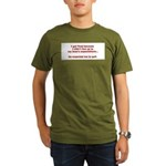Living Up to Expectations Organic Men's T-Shirt (d